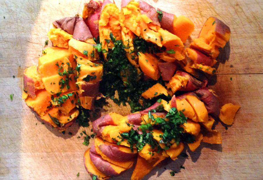 Speedy Spicy Sweet Potato Mash Recipe