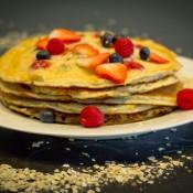 Mixed Berry Protein Pancakes