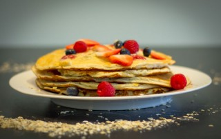 Mixed Berry Protein Pancakes