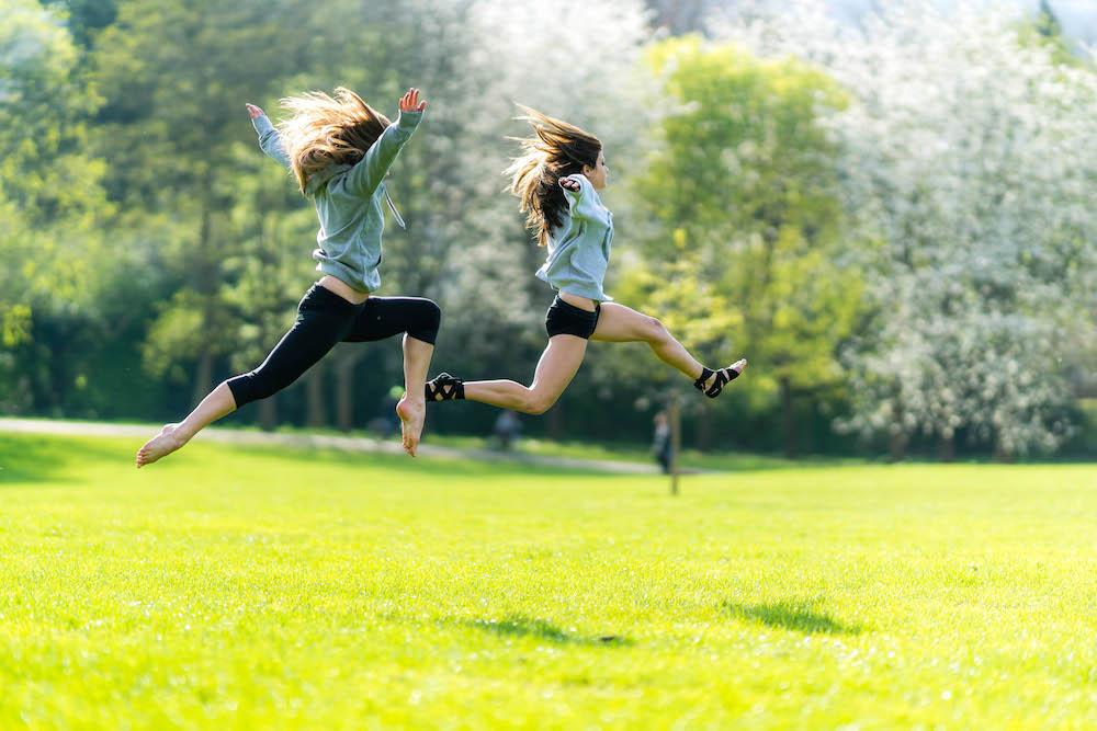 Female Fitness - Girls Jumping