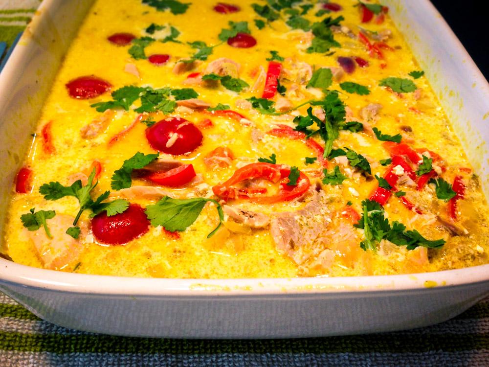 Salmon & Coconut Cutting Curry Recipe