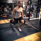 Dumbell walking lunge