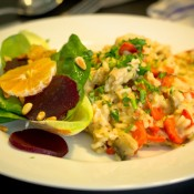 Chicken Risotto With Chicory Salad-9