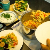 Chicken Risotto With Chicory Salad-8