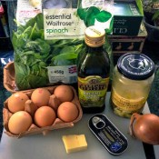 Pizza style omelette ingredients