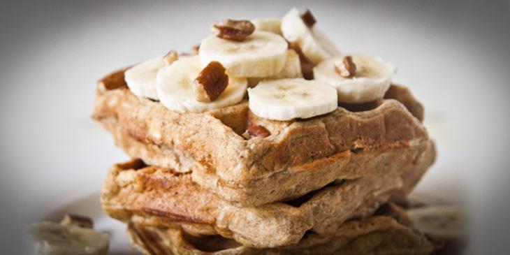 Banana Nut Oat Waffles