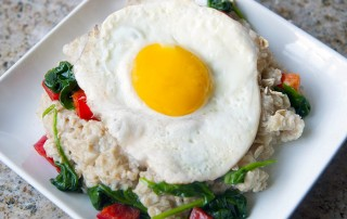 Savoury Oats and Eggs Breakfast Recipe