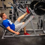High volume leg workout - single leg press