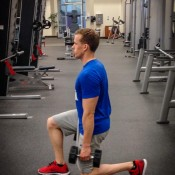 High volume leg workout - short lunge
