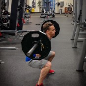 High volume leg workout - back squat