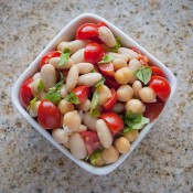 Italian chickpea and bean salad