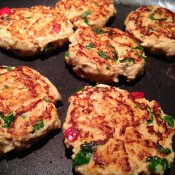 Chilli Pumpkin Turkey Burgers - Frying