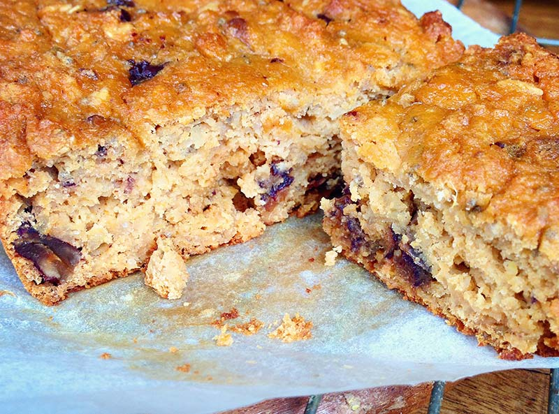 Sweet Potato Pecan and Date Blondie