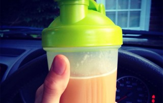 BCAAs in a shaker