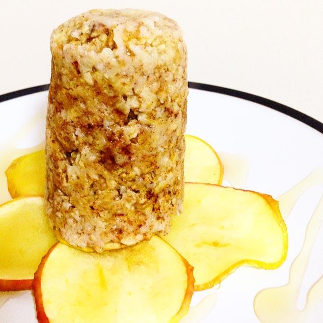 Baked Apple & Cinnamon Upside-Down Oats