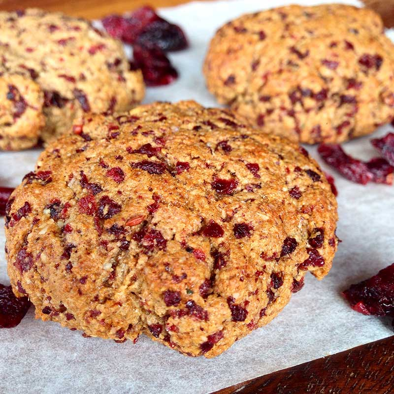 Cranberry Christmas Protein Cookies