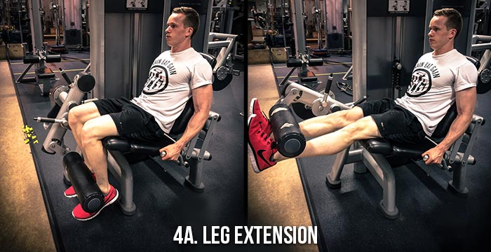 High Volume Leg Workout - Leg Extension