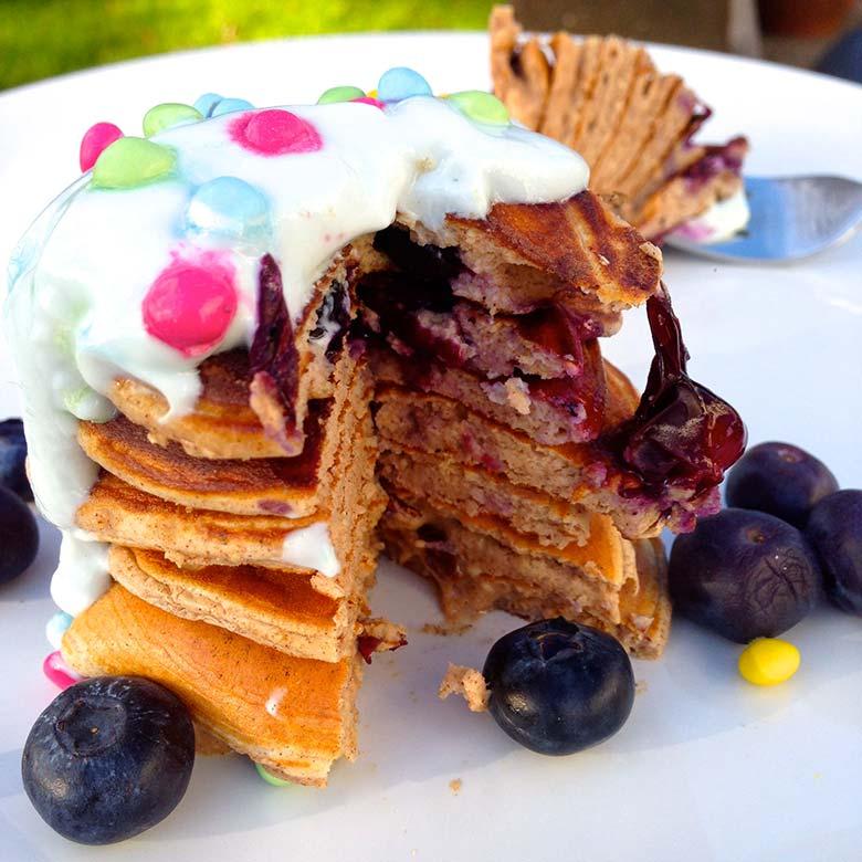 Easy Vanilla Cinnamon Protein Pancakes Recipe