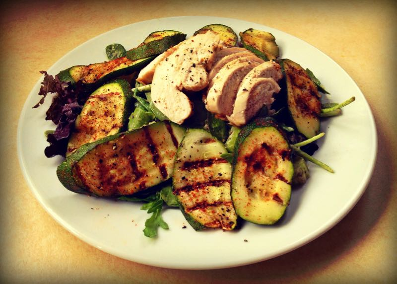 Grilled Chicken and Courgette Summer Salad