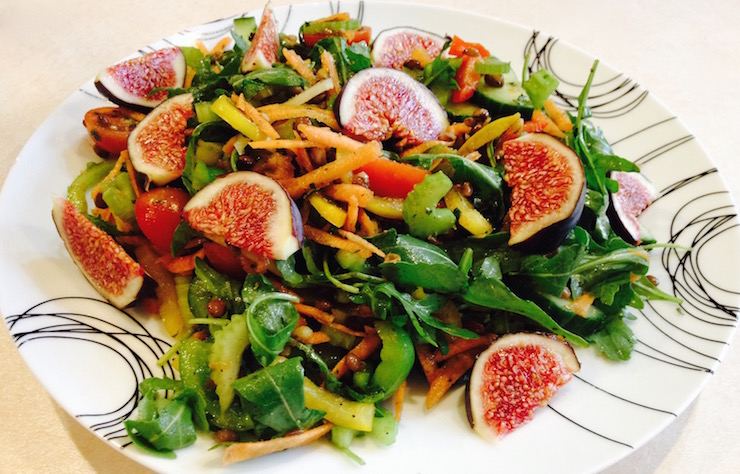 Fig and Lentil Colour Blast Salad