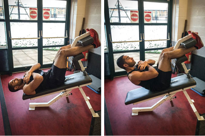 Incline Weighted Crunch