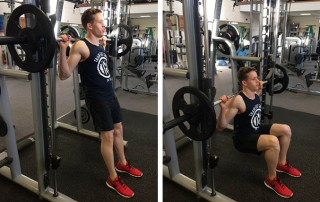 Smith Machine Hack Squat