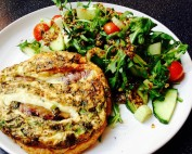 Cheeky Chipolata Frittata and Punchy Salad