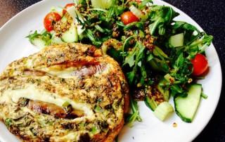 Cheeky Chipolata Frittata and Punchy Salad