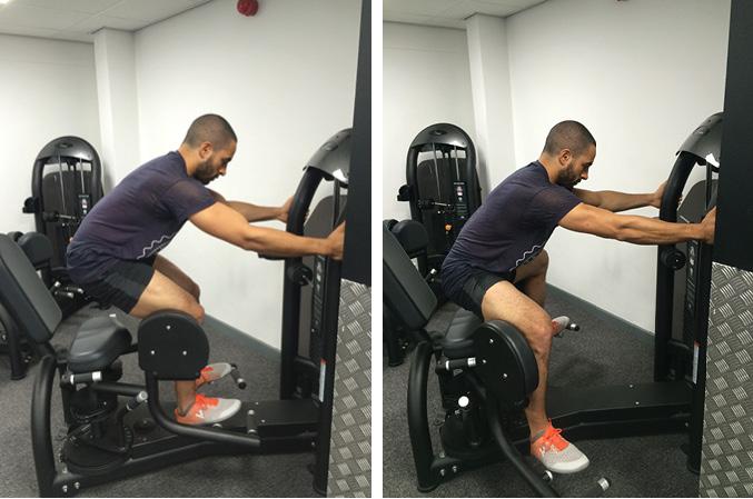 Hip Abductor Machine Exercise Guide TrainEatGain com